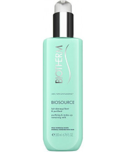 Biotherm Biosource Purifying And Make-Up Removing Milk Norm/Comb 200ml