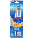 Oral B Pro Health Superior Clean w Tongue Cleanser Toothbrush 3-pack